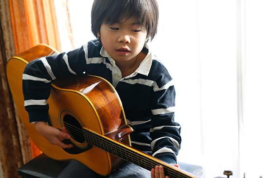 子供とギター