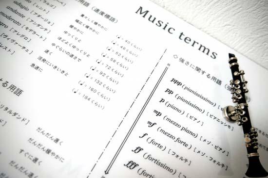 音楽記号の説明